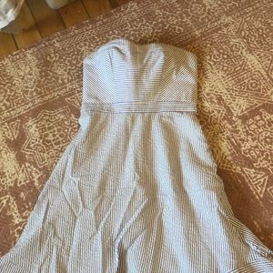 J Crew strapless seersucker dress